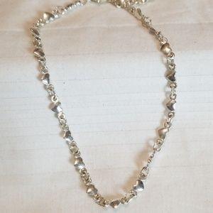 Jewelry - Silver Tone Tiny Heart Ankle Bracelet